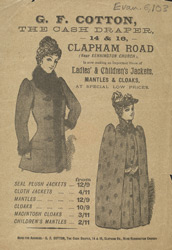 Advert For G. F. Cotton, Draper